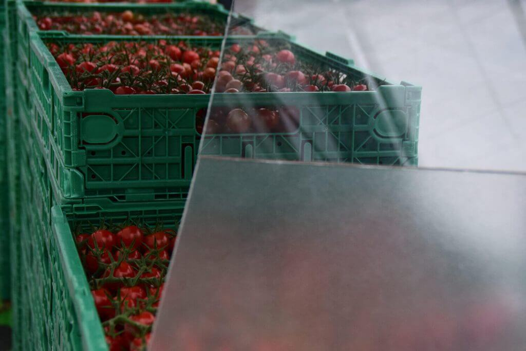 Duurzaam telen diffuus glas